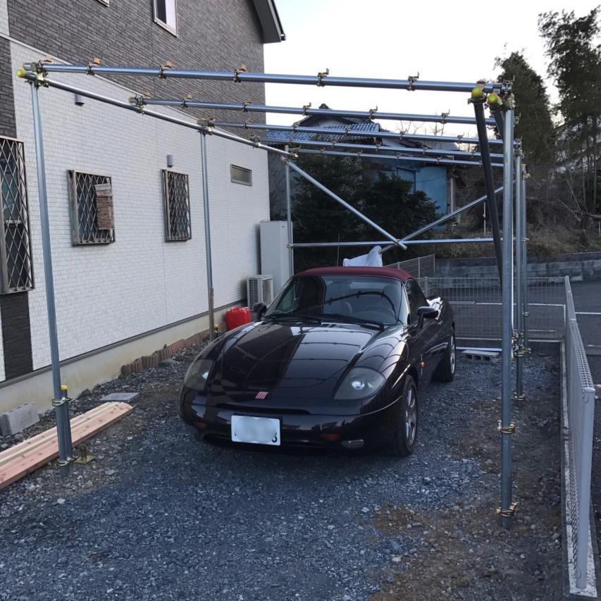 単管パイプ 車庫