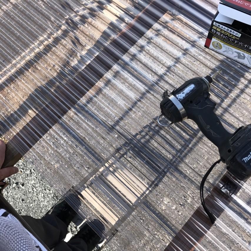 単管パイプ 波板 垂木