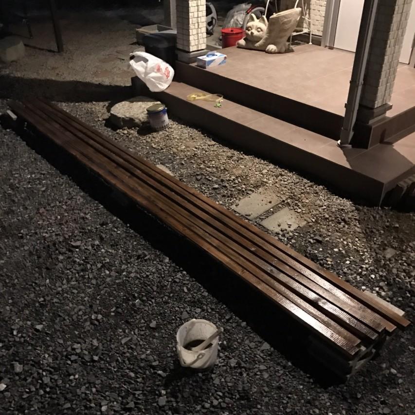 単管パイプ 車庫 垂木