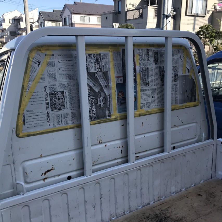 タウンエーストラック 荷台塗装